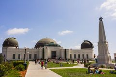 Touristes chez Griffith Observatory Photographie stock