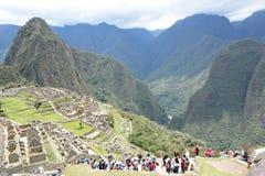 Touristes chez Machu Picchu peru Images stock