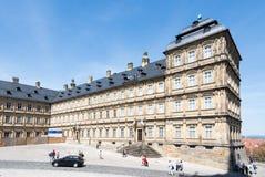 Touristes chez Neue Residenz à Bamberg Photos libres de droits