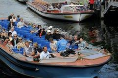 Touristes à Copenhague Images libres de droits