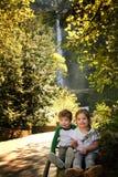 Touristes d'enfant Image stock