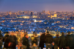 Touristes d'horizon de Paris Photos libres de droits