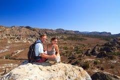 Touristes d'Isalo Photo stock