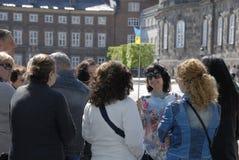 TOURISTES D'UKRAINE VISITANT LE DANEMARK Image libre de droits