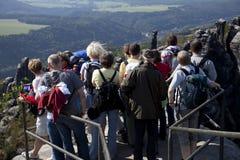Touristes dans   Photographie stock libre de droits