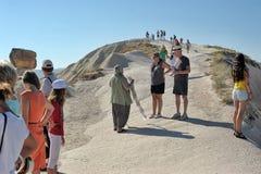 Touristes dans Cappadocia Photo libre de droits