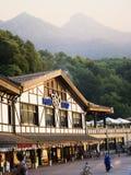 Touristes dans la station de vacances photo libre de droits