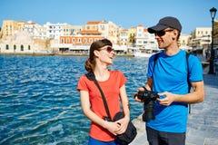 Touristes dans la vieille ville Images stock