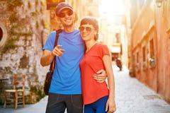 Touristes dans la vieille ville Photo stock