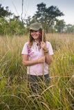 Touristes dans le safari Photographie stock