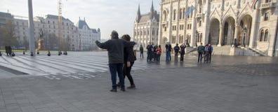 touristes de Budapest photos libres de droits