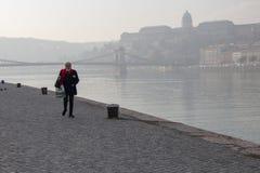 touristes de Budapest photo stock