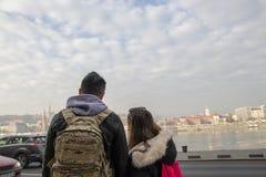 touristes de Budapest photographie stock libre de droits