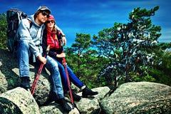 Touristes de couples Photographie stock libre de droits