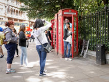 Touristes de Londres Photographie stock libre de droits