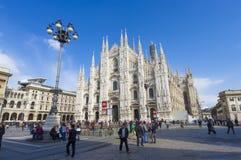 Touristes de Milan, Italie Photos libres de droits