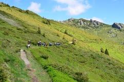 Touristes de montagne Images libres de droits