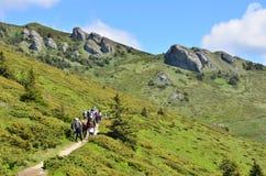 Touristes de montagne Photographie stock libre de droits