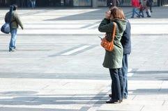Touristes de photo Photos libres de droits