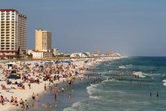 Touristes de plage de Pensacola Photographie stock libre de droits