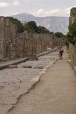 Touristes de Pompeii Photos libres de droits