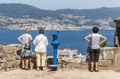 Touristes de Vigo Photos libres de droits