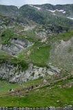 Touristes en montagnes d'été Photos stock