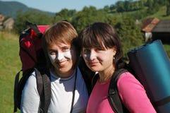 Touristes en protection solaire Images libres de droits