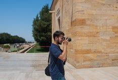 Touristes faisant des photos dans Anitkabir Photo stock