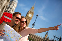 Touristes à Londres Photo stock