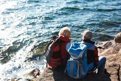 Touristes mûrs Photo stock