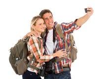 Touristes prenant le selfie Photo stock