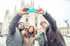 Touristes prenant le selfie Photographie stock libre de droits