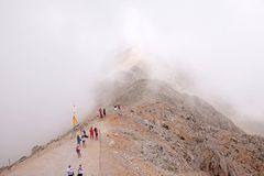 Touristes sur la montagne Photos libres de droits