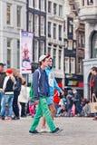 Touristes sur la place de barrage, Amsterdam, Pays-Bas Image libre de droits