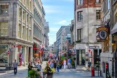 Touristes sur la place de Jacques Cartier photo stock