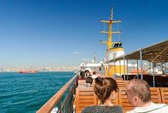 Touristes sur le bateau Photos libres de droits