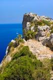 Touristes sur le chapeau Formentor, Majorque, Île Baléare images libres de droits