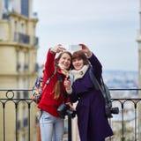 Touristes sur Montmarte à Paris Photo libre de droits