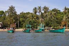 Touristes sur un bateau Photo libre de droits