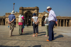 Touristes étrangers Images stock