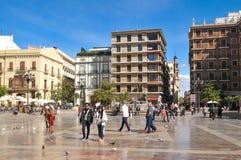 Touristes à Valence Photographie stock