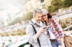 Touristes voyageant en Europe Photo libre de droits