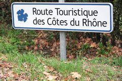 Touristic дорога cotes du rhone во Франции стоковые фото