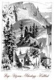Touristic места в Швейцарии, винтажном плакате стоковые фотографии rf