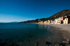 Touristic область известная как varigotti Италия стоковое изображение rf