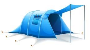 Touristic располагаясь лагерем шатер иллюстрация штока