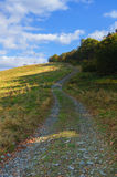 Touristic след в горах в красивом пейзаже Стоковые Фото