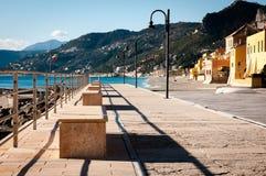 Touristic area known as varigotti italy Stock Images