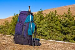 Touristic backpack Stock Images